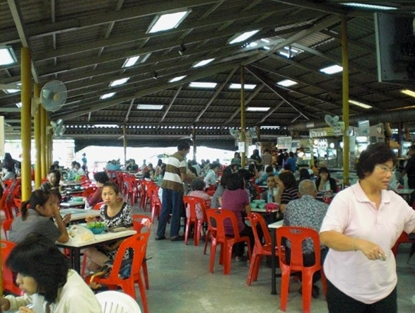 Part of the massive open air food court