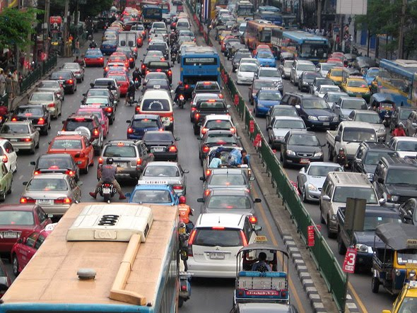 traffic jams in bangkok