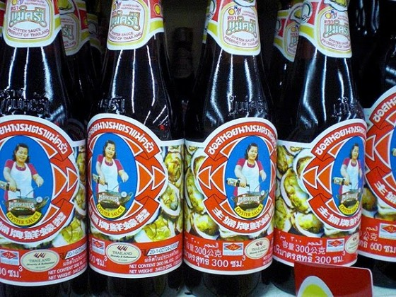 One of my favorite Thai oyster sauce brands - at any Thai supermarket, you'll find half an aisle full of oyster sauce as it's used in many Thai dishes