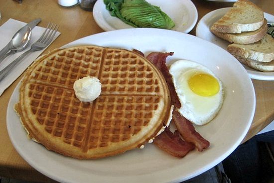 Traditional American breakfast - copyright Churchill95, Creative Commons