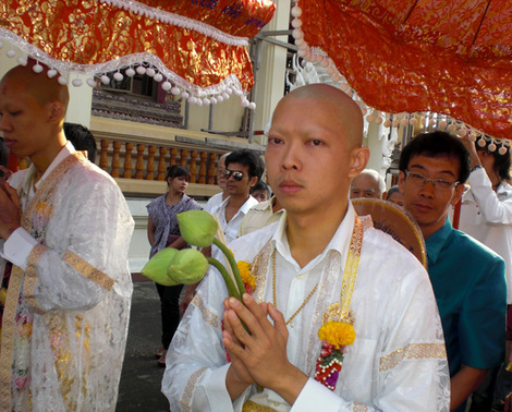 buddhist ordination ceremony