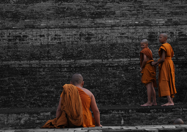 Novice monks in Chiang Mai