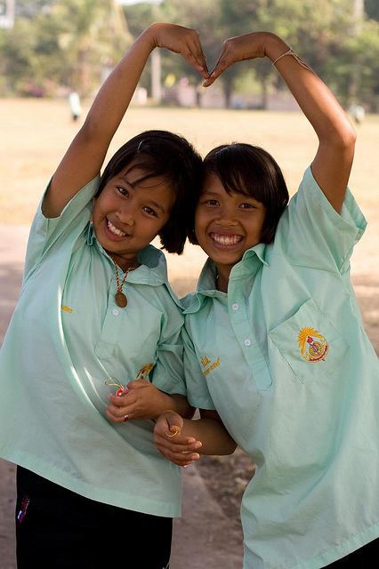 Students in rural Thailand