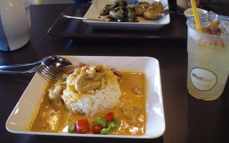 My incredible pork curry at Pier 21 - all for 40 baht. Eat cheaply in Bangkok