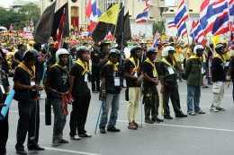 """PAD """"peaceful protesters"""" armed with batons and sticks"""