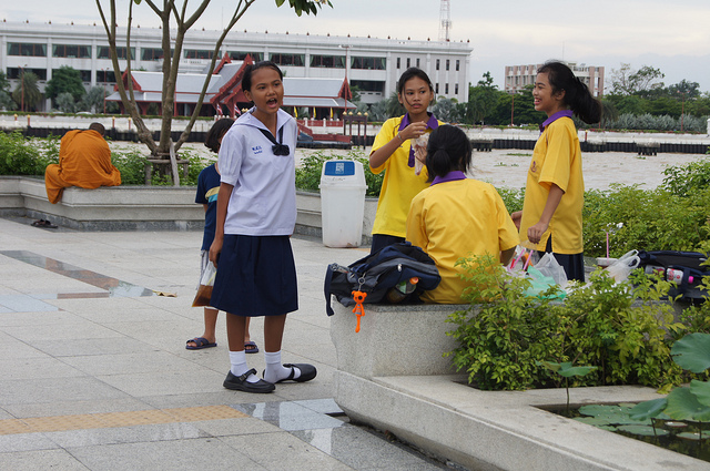 Thai kids will not be happy about extended school hours - copyright andrijbulba, Creative Commons