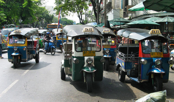 You can take a tuk-tuk to Khao San Road from anywhere in the city