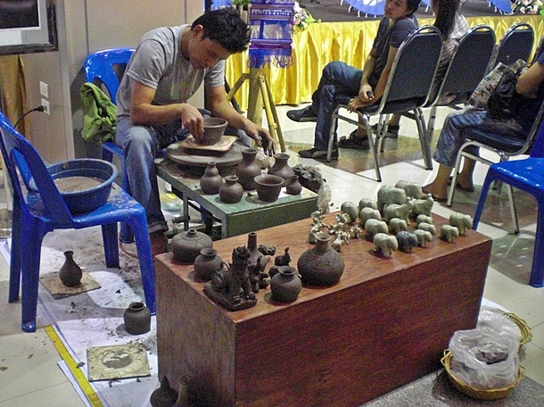 Display of pottery throwing at Season of Chiang Mai Brand Fair