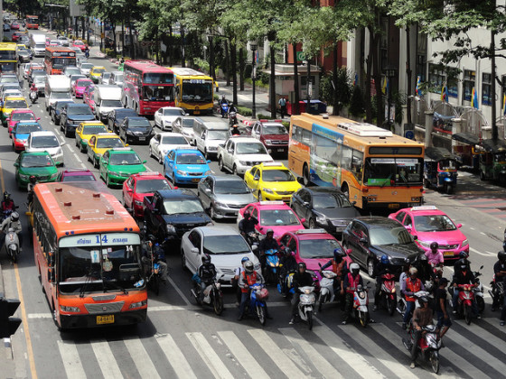 bangkok traffic pollution