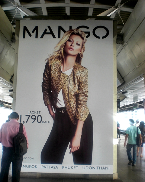 MANGO advertisement at Siam BTS skytrain in Bangkok.