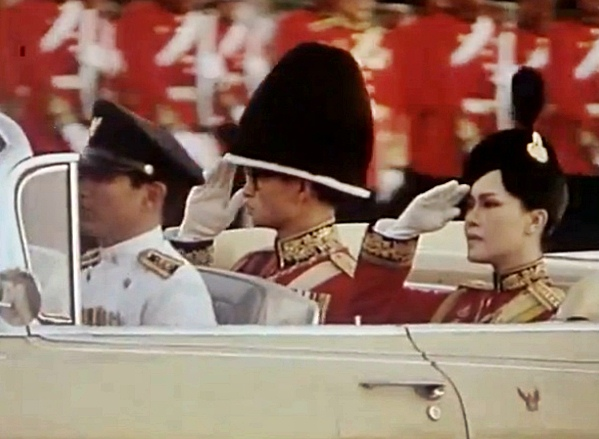 king and queen of thailand in 1970s