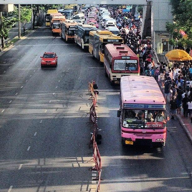 Are you asking why is Bangkok traffic so bad?