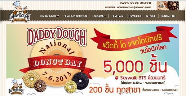 daddy dough national donut day free donuts bangkok thailand