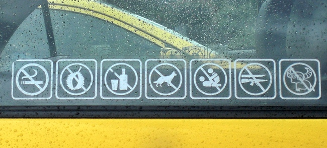 things not allowed to do in thai taxi
