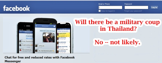 facebook military coup thailand