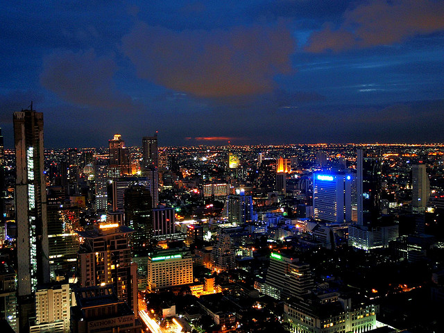 night sky bangkok from sky bar