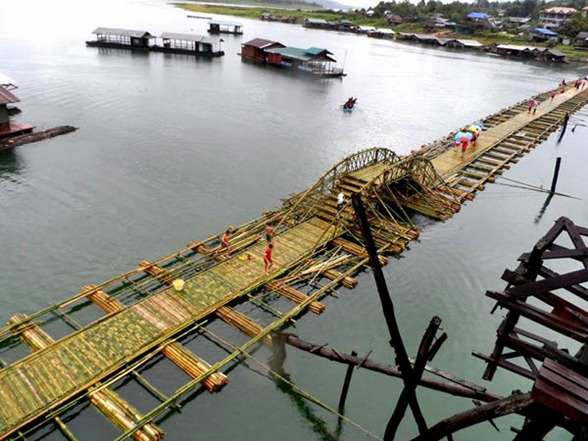 thailand's longest bamboo bridge
