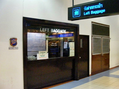 Where is Left Luggage Service at Don Mueang Airport in ...