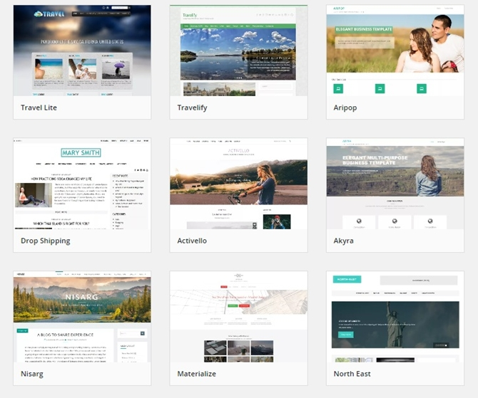 travel blog themes wordpress
